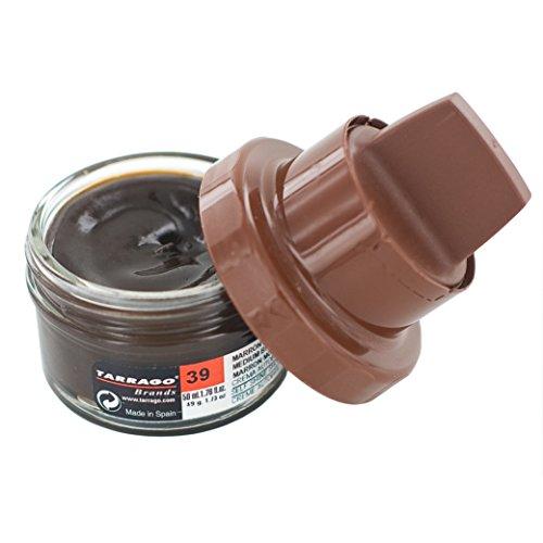 Tarrago Self Shine Crema para zapatos con esponja aplicadora, mantenimiento y nutrición del cuero