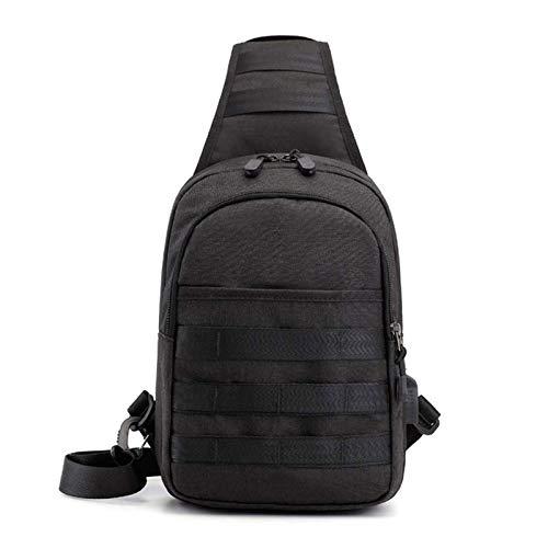 Adesign Sling Mochila, Multiusos Crossbody Bolsa de Hombro Viajes Senderismo Deporte Crossbody Bolsa Triangle Pack Rucksack Multipack Daypack (Color : Black)