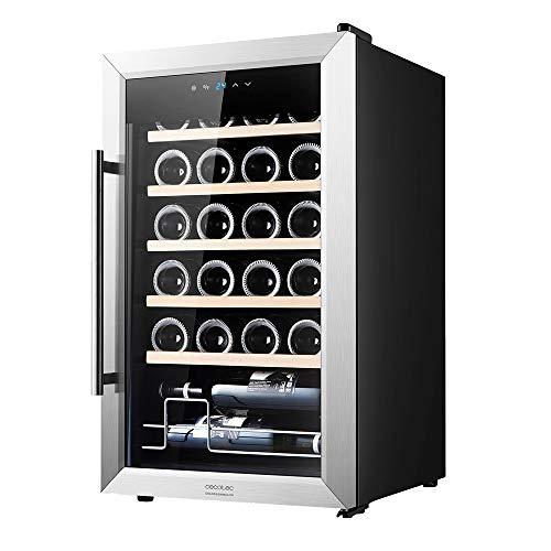Cecotec Vinoteca GrandSommelier 24000 INOX Compressor. 24 Botellas, Compresor, Alto Rendimiento garantizado, Temperatura Regulable