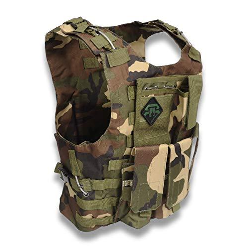 REX RAW ® - Gilet de Combat Tactique Type Militaire - 3 Eléments système Molle Inclus + Holster -...