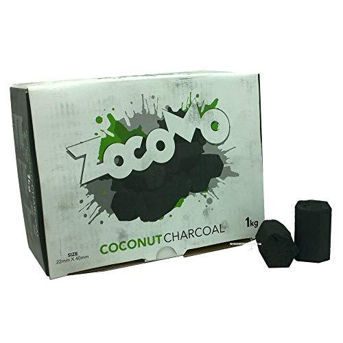 Zomo Zocomo 1 kg Shisha Kokosnusskohle Hexagon 22x40mm Naturkohlen Cubes