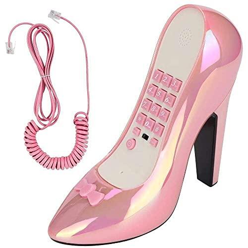 zhaita WX-3122 Téléphone fixe en forme de chaussures à talons hauts