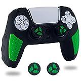 BRHE Funda de silicona antideslizante para mando de PS5, juego de accesorios...