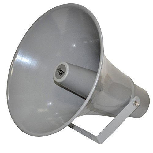 Indoor Outdoor PA Horn Speaker - 13.5 Inch 50 W Powered Compact Loud Sound Megaphone w/ 400Hz-5KHzz Frequency, 8 Ohm, 70V Transformer, Mounting Bracket Hardware, For 70V Audio System - Pyle PHSP131T