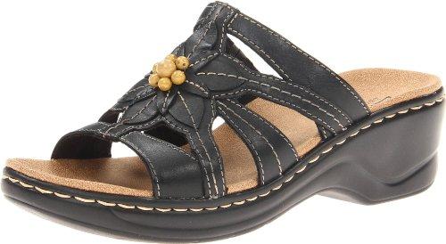 Clarks Women's Lexi Myrtle Sandal, Black, 8 D - Wide