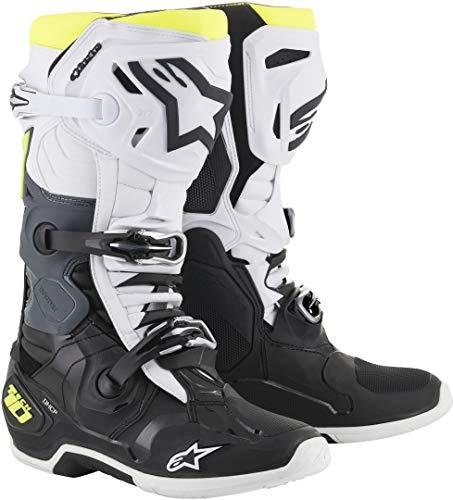 Alpinestars Tech-10 Motocross Stiefel Schwarz/Weiß/Gelb 10 (44.5)