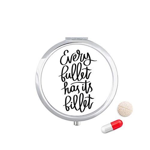 DIYthinker Reise-Taschen-Pillen-Kasten-Medizindrogenspeicher-Kasten-Zufuhr-Spiegel-Geschenk