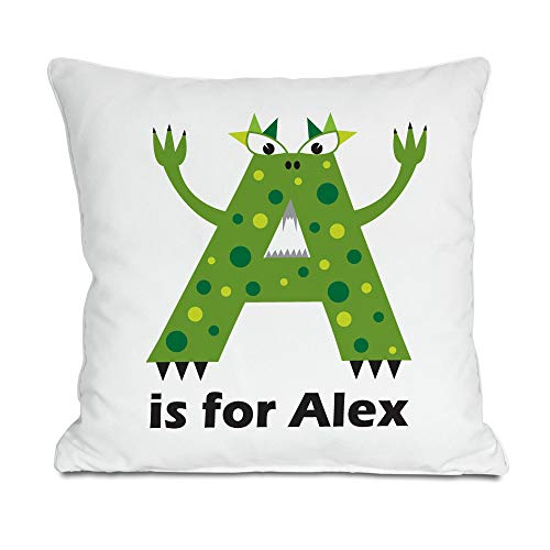 Personalised Children's Alphabet Monster Cushion | Printed with Any Name | 45cm Square Cushion | Fantastic Childrens Gift | Great colourful and fun Designs