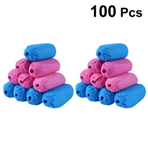 BESPORTBLE 100 Pezzi di Tessuto Non Tessuto Coprono Le Scarpe Antiscivolo Protettore per Scarpe Elastico Copriscarpe Colore Misto