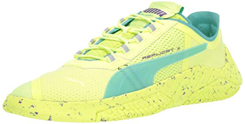 PUMA Men's REPLICAT-X Sneaker, Fizzy Yellowblue Turquoise-Purple Glimmer, 7 M US