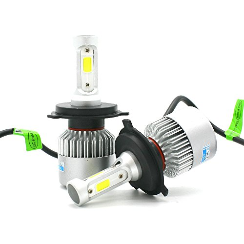 Motify-GT 100W H4 9003 HB2 12000LM LED Headlight Conversion Kit, Hight Low beam headlamp, Fog DRL Light, HID or Halogen Head light Replacement, 6500K Xenon White, 1 Pair- 1 Year Warranty