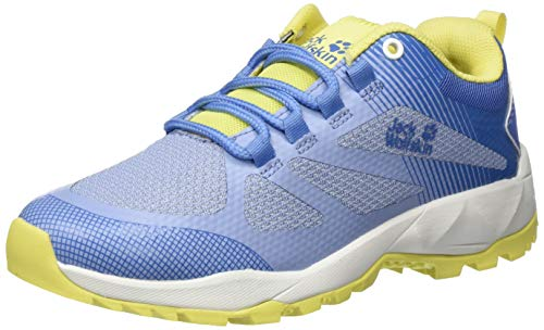 Jack Wolfskin Damen Fast Striker Low W Trekking- & Wanderhalbschuhe, Blau (Light Blue/Lemon 1591), 43 EU