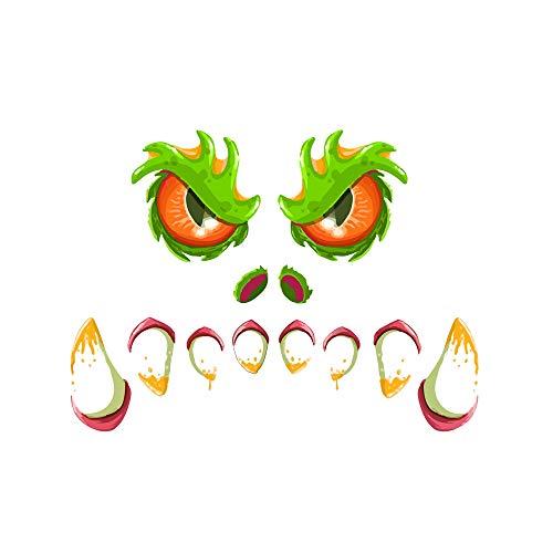 Huante HW021 - Juego de 2 juegos de Halloween aterrador para decoración de ventanas, para fiestas