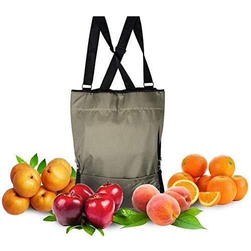 GWQSM Recogiendo jardín Delantal recolección de Frutas Verduras Bolsa Bolsa de Almacenamiento de la Cosecha de Medida Adaptable Liberar su Brazo y Mano (Color : As Show)