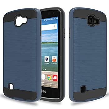 Wtiaw Compatible with LG Optimus Zone 3 Case,LG Spree Case,LG Rebel LTE Case,LG K4 Case 2016 ,LG K4 Gray Case,LG Optimus Zone 3 VS425PP/K4 LTE Case,Brushed Metal Texture Case for LG K4-CL Metal Slate