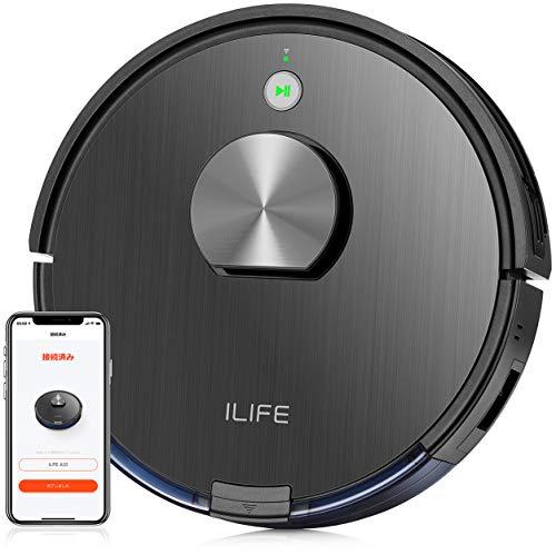 ILIFE アイライフ A10ロボット掃除機 レーザー&マッピング 強力吸引力 多様なアプリ機能 マルチフロアマッピング機能 落下防止 衝突防止 (ブラック)
