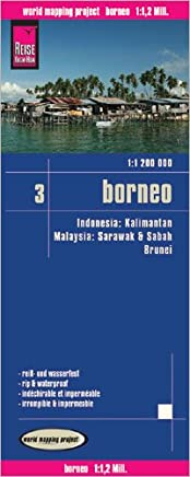 Borneo 1:1,200,000 (Malaysia, Indonesia, Brunei) Travel Map, waterproof, GPS-compatible REISE, 2011 edition