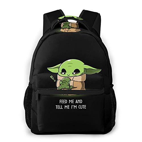 Cute Yo-da Baby Fashion Backpack for Girls Boys 3D Design Print Cute School Bag Bookbag Daypack
