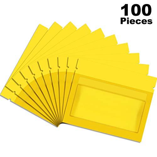 Norme 100 Stücke Wiederverschließbar Geruchssicher Taschen Folien Beutel Flacher Druckverschluss Beutel für Tägliche Leben oder Partyartikel (3,0 x 2,6 Zoll, Gold)
