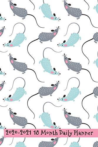 2020 - 2021 18 Month Daily Planner: Pretty Blue and Gray Pet Rat Cover | Daily Organizer Calendar Agenda | 6x9 | Work, Travel, School Home | Monthly ... (Pet Lovers Lifestyle Organizer Series)