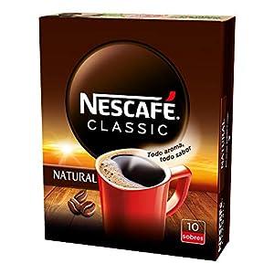 NESCAFÉ CLASSIC NATURAL todo aroma y sabor, café soluble, 100 % café, estuche con 10 sobres, TOTAL 10 sobres