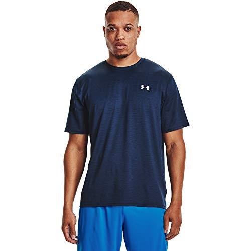 Under Armour Training Vent 2.0 - Maglietta da Uomo, Uomo, T-Shirt, 1361426-408, Academy/Bianco (408), L