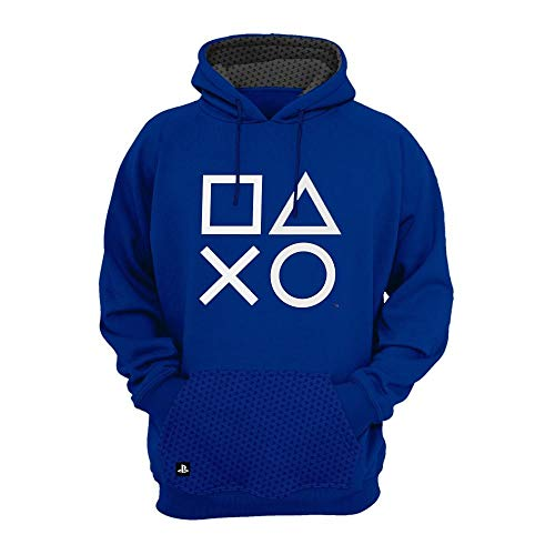 Moletom Playstation,Banana Geek,Masculino,Azul,GG
