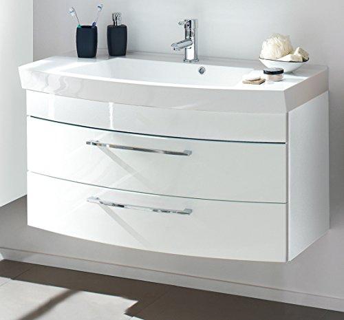 wohnfuehlidee Waschplatz Florenz, Breite 100 cm, mit 2 Schubladen, Weiß