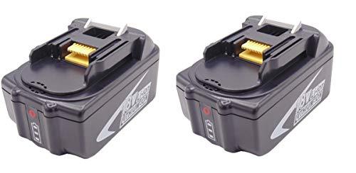 2 piezas de repuesto para 18v 5Ah batería makita BMR102 DUR181Z DUR182LZ BDF452Z BVR450Z BDF452Z BTW251RFE BJR181Z BHR202 BTL063 BL1860 BL1850 BL1840 BL1830 BL1815