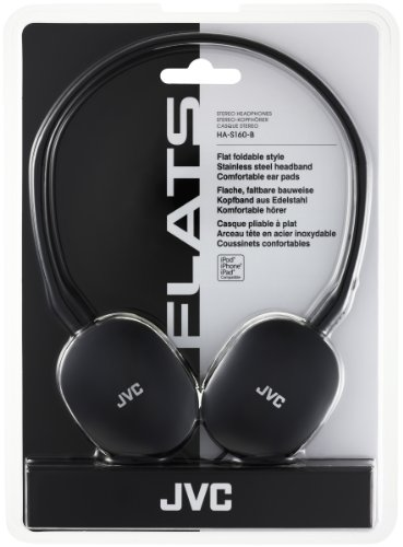 JVC Flats Casque ultra-léger pour iPod 6G Noir