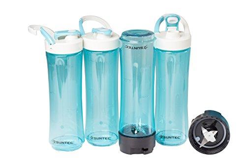 SUNTEC-Smoothie-Maker-Flaschen-Set-SMO-KIT-9950-4-Trinkflaschen-600ml-To-Go-fr-Smoothie-Mixer-BPA-Frei-Kunststoff-Mixbehlter-fr-Shakes-Splmaschinenfest-mit-Deckel
