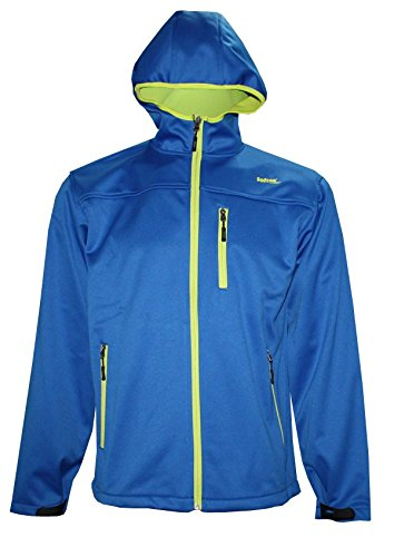 Softee-Softshell avec Capuche et Petits Jacket Multicolore Bleu/Vert 10