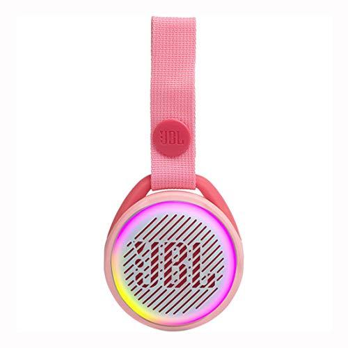 JBL JR Pop Mini-Boombox für Kids - Poppiger, wasserdichter Bluetooth-Lautsprecher mit eingebauten Lichtmotiven - Bis zu 5 Stunden Musik hören mit nur einer Akku-Ladung Pink
