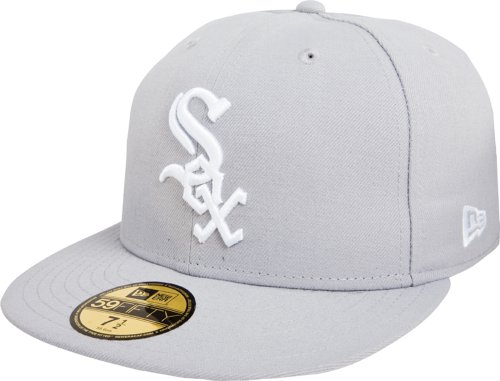 New Era MLB Chicago 59Fifty Casquette ajustée Blanc Sox Basic, Homme, 10023364, Chicago White Sox, 7 1/2