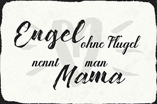 FS Spreuk Engel vleugels noemt Mama metalen bord bordje gewelfd Metal Sign 20 x 30 cm