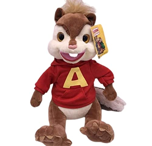 Wjfijz Alvin And The Chipmunks Alvin Soft Peluche Toys Souris Pillow Doll Stuffed Animal Dolls for Kids 25cm