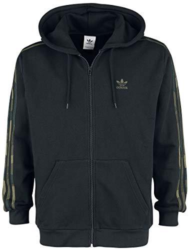 adidas Herren CAMO FZ Sweatshirt, Black/Multicolor, M