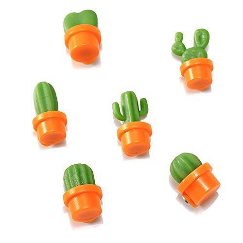 Amacoam 6 stuks cactus koelkastmagneet, koelkastmagneten cactusmagneten plant creatieve kunsthars koelkastmagneten Home Decoratie sticker keuken voor whiteboard, magneetbord, magneetstrips