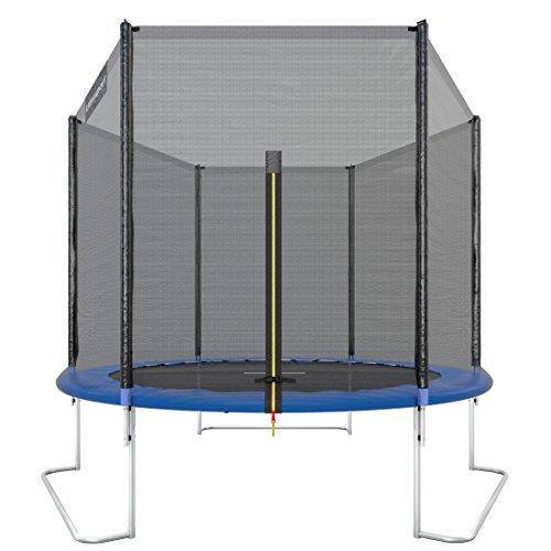 Ultrasport Gartentrampolin Trampolin Trampolin, mit Sprungfläche, Sicherheit, gepolsterten Netzpfosten und Kantenabdeckung, bis zu 120 kg, Unisex Kinder, Blau, 251 cm