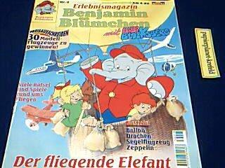Erlebnismagazin Benjamin Blümchen mit Bibi Blocksberg Nr. 3 Der fliegende Elefant , 1995, Bastei Comic Magazin