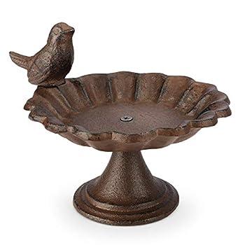 WILDLIFE FRIEND Abreuvoir pour Oiseaux, Bain à Poser ou Mangeoire Oiseaux - Mangeoire à Oiseaux sur Pied