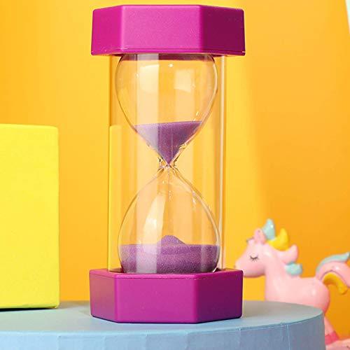 BGSFF Temporizador de Arena Reloj de Arena Temporizador 2 Unidades Temporizador de Reloj de Arena de Seguridad 5/10/15/30 Minutos Decoración Creativa para niños a Prueba de caídas Adorno