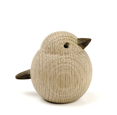 Novoform Design - Baby Sparrow - Dekofigur, Holzfigur - Spatz - Eichenholz - Maße (LxBxH): 6,8 x 5,5 x 6 cm