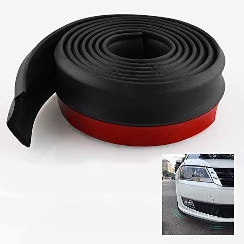 Xnuoyoアンダーリップモール リップスポイラー 2.5m 硬質ゴム製 汎用 マルチスポイラー エアロガード カーボンリップ カーガード 黒