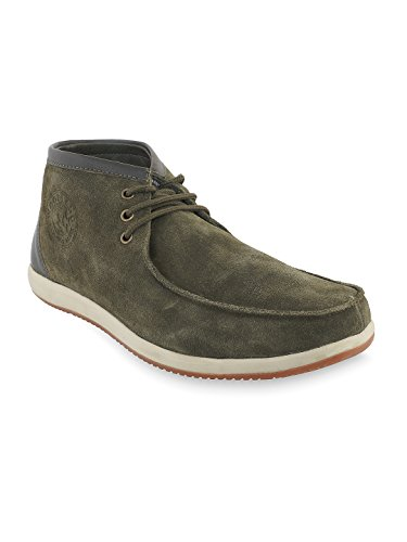 Woodland Men's Brown Leather Outdoor Shoes
