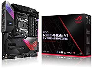 ASUS ROG Rampage VI Extreme Encore, X299 LGA 2066 E-ATX Gaming Motherboard for Intel Core X-Series Processors with Aura Sync RGB Lighting
