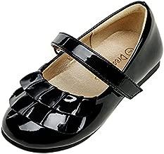 DREAM PAIRS Girls KFL2111 Mary Jane Ballet Flats Dress Shoes Black Size 9 Toddler