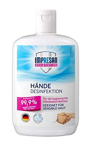 Impresan Hände Desinfektion: Flüssiges Desinfektionsmittel - hygienische Handdesinfektion 1 x 150ml