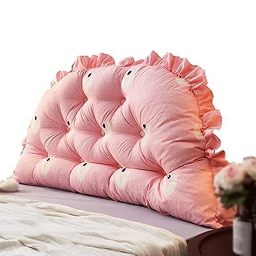 ZWDM Cojines de cabecera Cojines de Apoyo Colchón Bolsas Blandas Sofá de Gran tamaño Cojines de Cama Respaldo de Cama Almohadas de la Sala de Lectura Desmontable (Color : Pink, Size : 200x70x20cm)