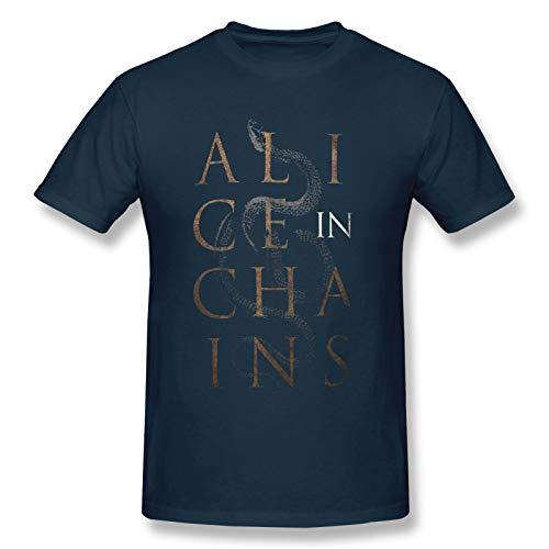 Alice In Chains13 Men Short Sleeve T-Shirt Music Unique T Shirt Navy M